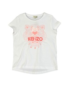 Kenzo Kids Girls White Girls Printed Tiger T Shirt