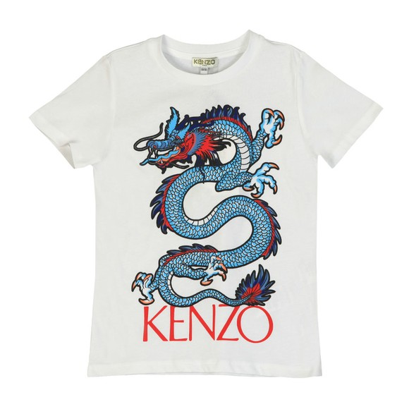 Kenzo Kids Boys White Jao Dragon Celebration T-Shirt