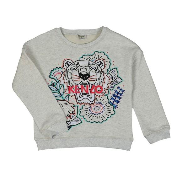 Kenzo Kids Girls Grey Jungle Tiger Sweatshirt