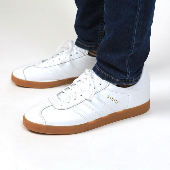 adidas Originals Mens White Gazelle Trainer main image