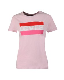 Levi's Womens Pink Perfect Logo T Shirt