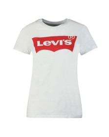 Levi's Womens White Perfect Large Batwing Logo T Shirt