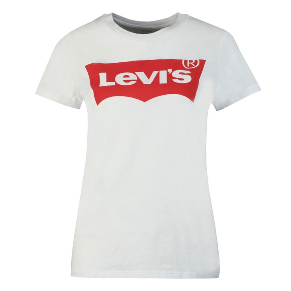 Levi's Womens White Perfect Large Batwing Logo T Shirt main image