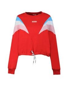 Levi's Womens Red Florence Baby Tab Sweatshirt