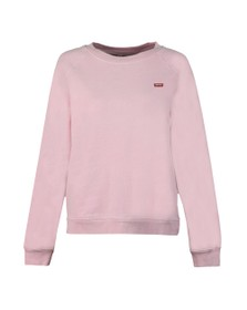 Levi's Womens Pink Boyfriend Crew Neck Sweat