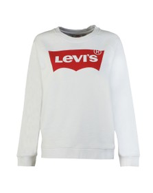 Levi's Womens Off-White Boyfriend Crew Neck Sweat