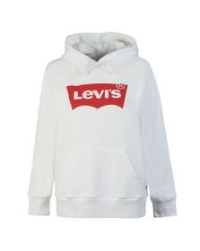 Levi's Womens White Graphic Sport Hoody