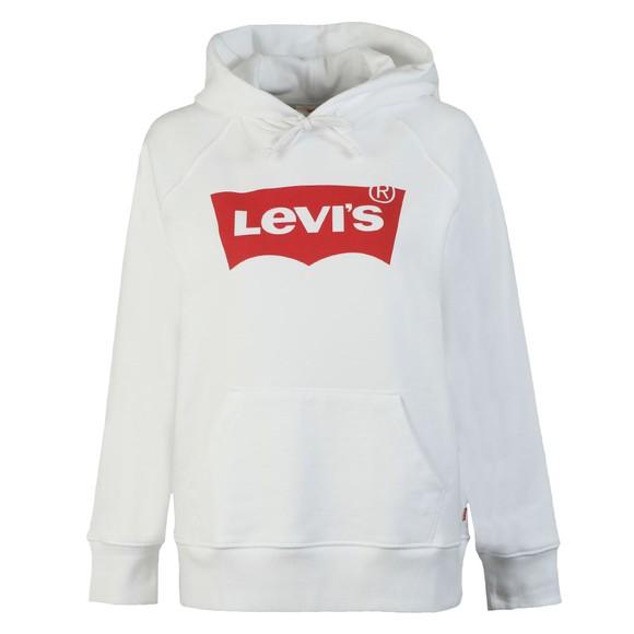 Levi's Womens White Graphic Sport Hoody