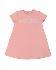 Kenzo Kids Girls Pink Sport Line Logo Jersey Dress