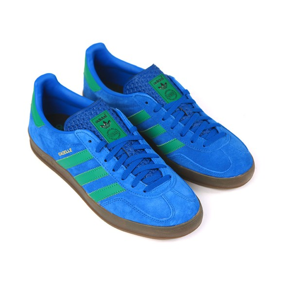 adidas Originals Mens Blue Gazelle Indoor Trainer main image