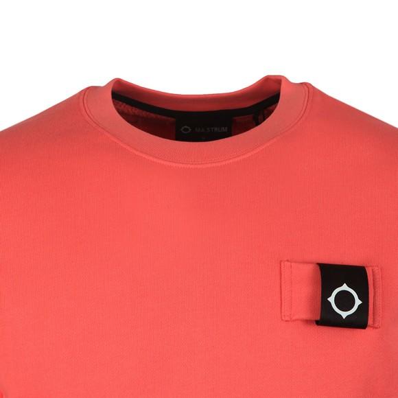 Ma.Strum Mens Pink Training Crew Sweatshirt main image