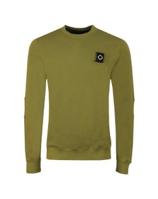 Ma.Strum Mens Green Training Crew Sweatshirt
