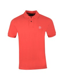 Ma.Strum Mens Pink Pique Polo Shirt