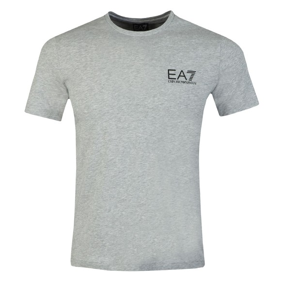 EA7 Emporio Armani Mens Grey Small Logo T-Shirt