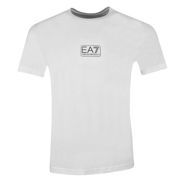 EA7 Emporio Armani Mens White Small Logo T-Shirt main image