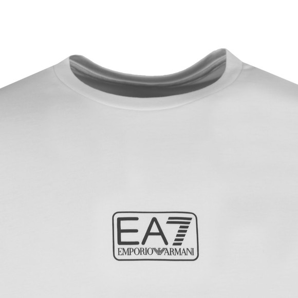EA7 Emporio Armani Mens White Small Logo T-Shirt