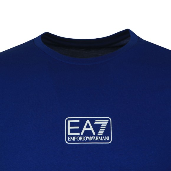 EA7 Emporio Armani Mens Blue Small Logo T-Shirt