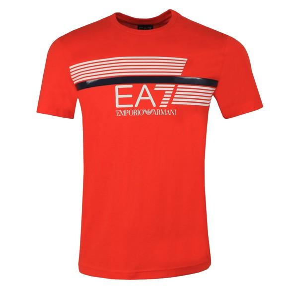 EA7 Emporio Armani Mens Orange Logo T-Shirt