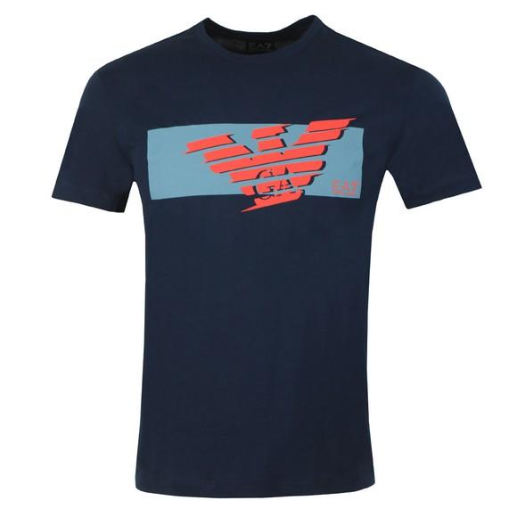EA7 Emporio Armani Mens Blue Logo T-Shirt
