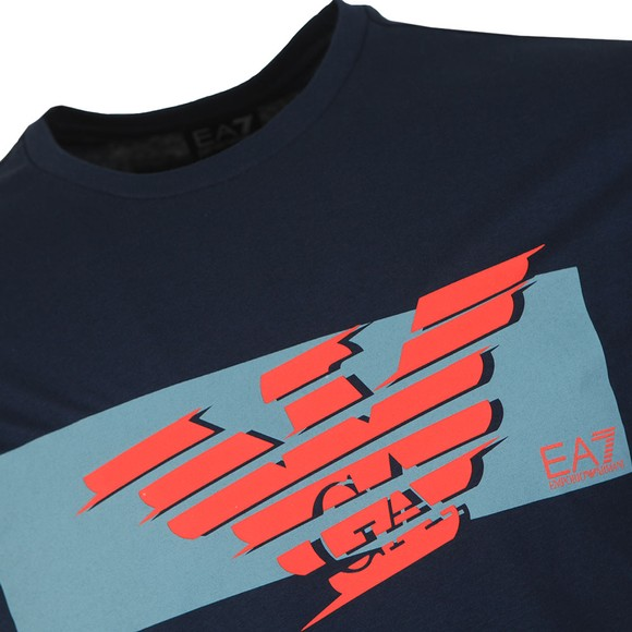 EA7 Emporio Armani Mens Blue Logo T-Shirt main image