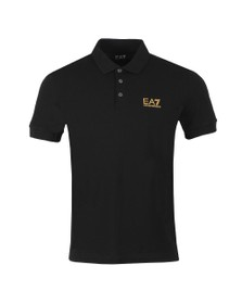 EA7 Emporio Armani Mens Black Small Logo Polo Shirt