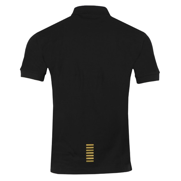 EA7 Emporio Armani Mens Black Small Logo Polo Shirt main image