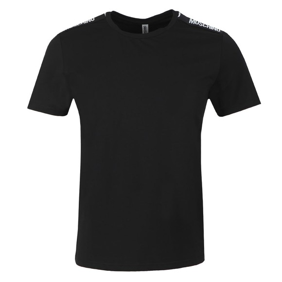 Moschino Mens Black Tape T-Shirt