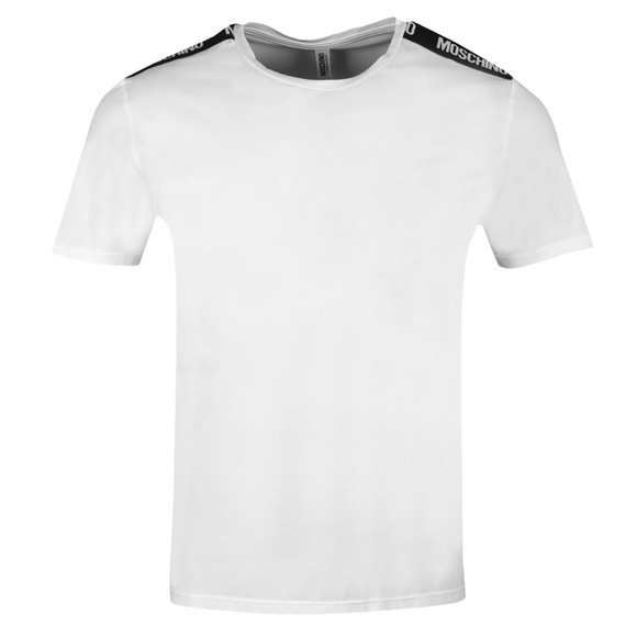 Moschino Mens White Tape T-Shirt