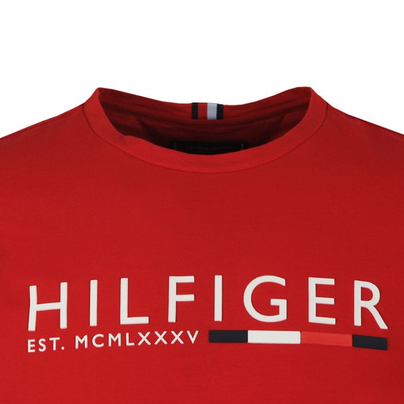 Tommy Hilfiger Mens Red Corp Hilfiger Stripe T-Shirt main image