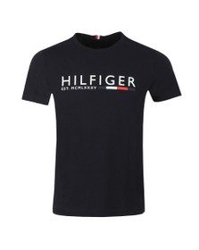 Tommy Hilfiger Mens Blue Corp Hilfiger Stripe T-Shirt