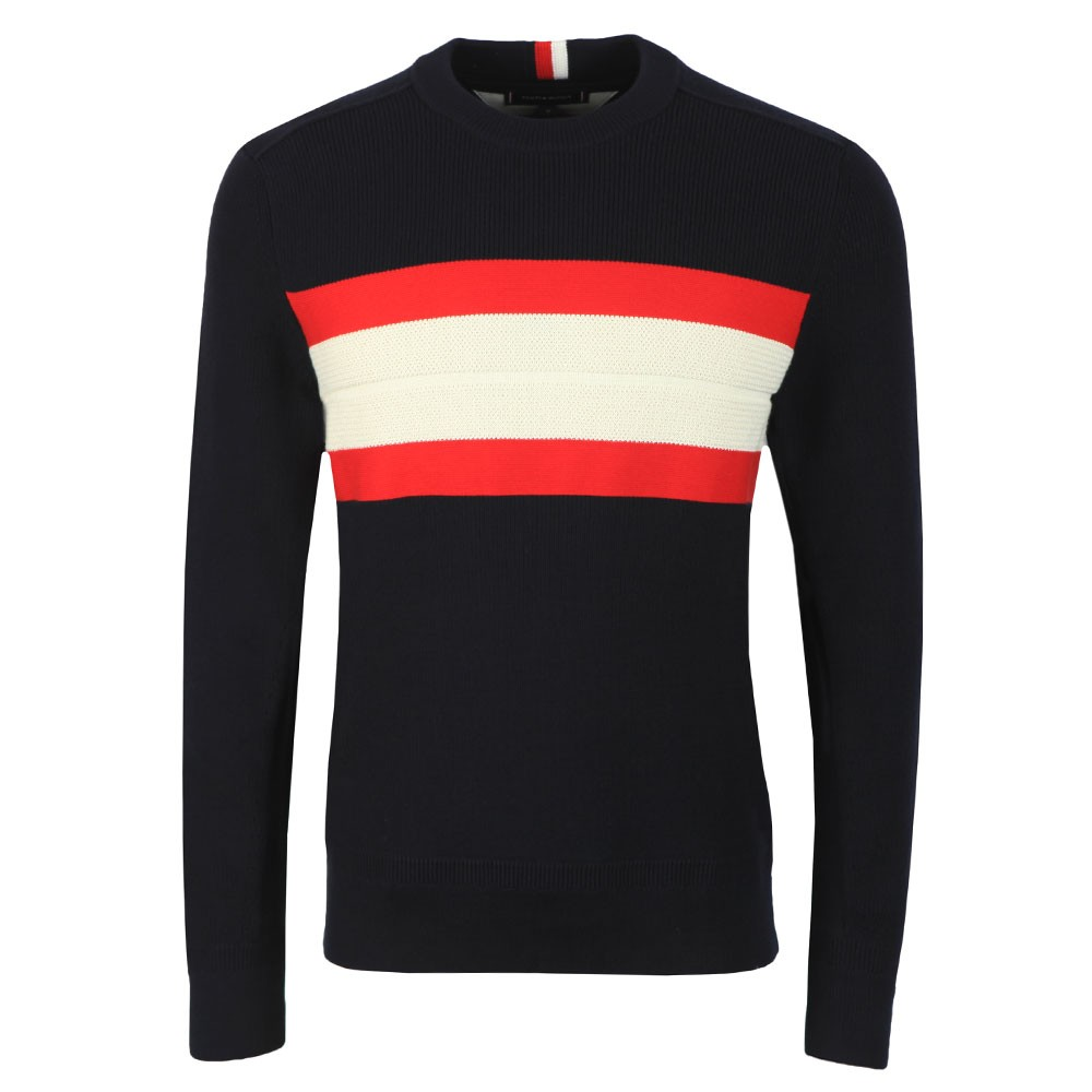 Ribbed Chest Stripe Jumper main image