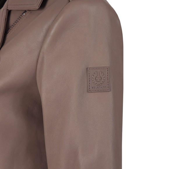 Belstaff Womens Beige Marvingt Leather Blouson