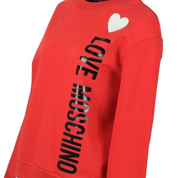 Love Moschino Womens Red Girocollo Sweatshirt main image