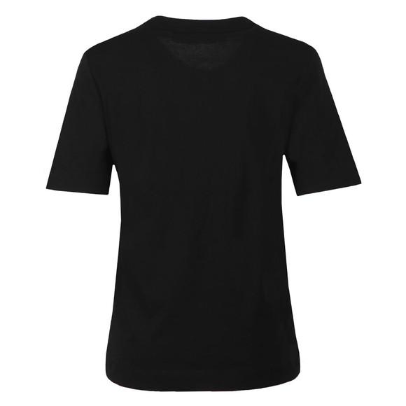 Love Moschino Womens Black Signature Heart T Shirt main image