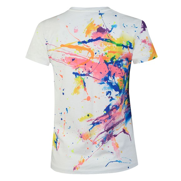Polo Ralph Lauren Womens White Paint Splatter T Shirt
