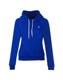 Polo Ralph Lauren Womens Blue Small Logo Overhead Hoody