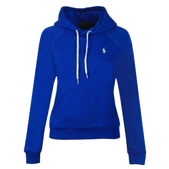 Polo Ralph Lauren Womens Blue Small Logo Overhead Hoody