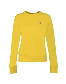Polo Ralph Lauren Womens Yellow Light Crew Sweatshirt