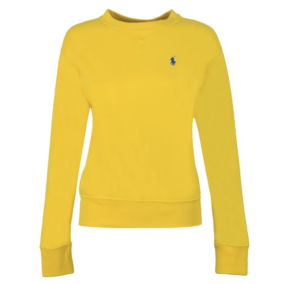 Polo Ralph Lauren Womens Yellow Light Crew Sweatshirt main image