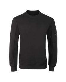 C.P. Company Mens Black Detailed Neck Crew Neck Sweatshirt