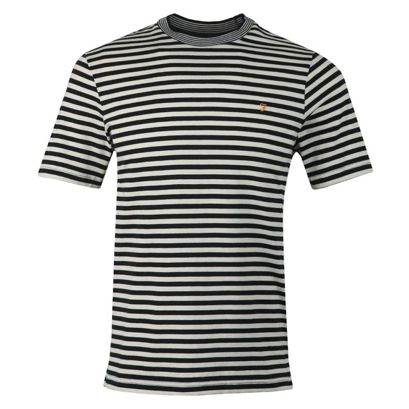 Farah Mens Blue Galveston Stripe T-Shirt main image