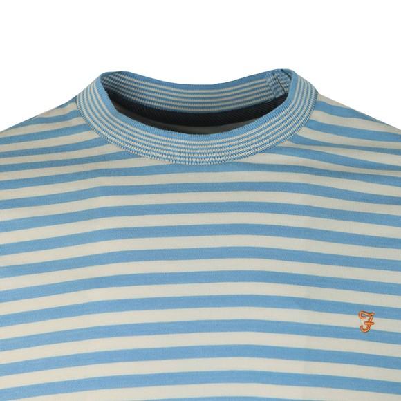 Farah Mens Blue Galveston Stripe T-Shirt main image
