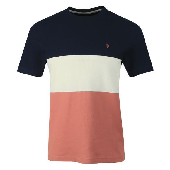 Farah Mens Pink Wharton T-Shirt main image