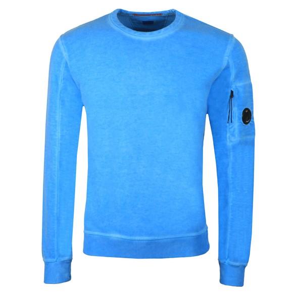C.P. Company Mens Blue Cotton Fleece Sweatshirt