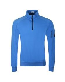 C.P. Company Mens Blue Half Zip Sweatshirt