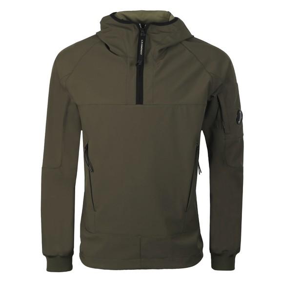C.P. Company Mens Green Half Zip Soft Shell Jacket