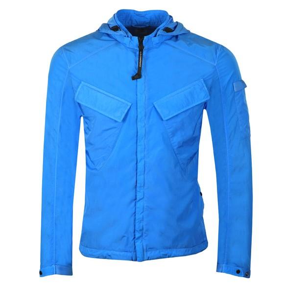 C.P. Company Mens Blue Chrome Hooded Overshirt