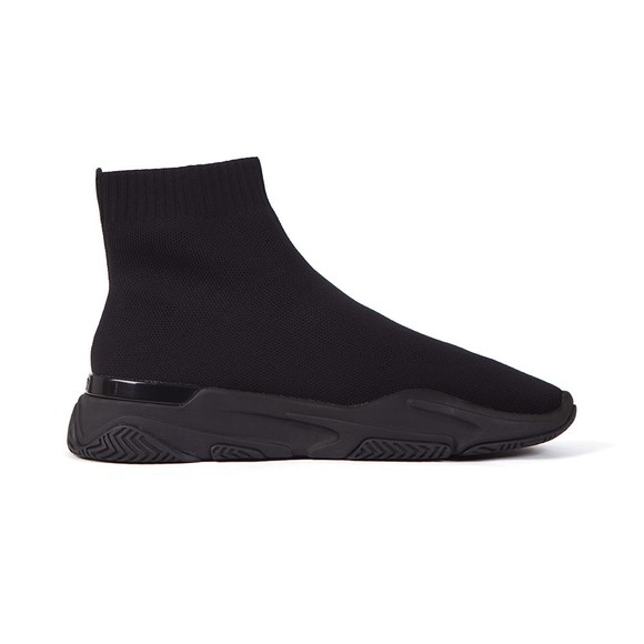 Mallet Mens Black Sock Runner Trainer