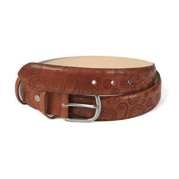Barker Mens Brown Paisley Leather Belt main image