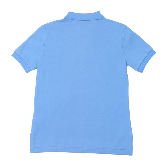 Polo Ralph Lauren Boys Blue Pique Polo Shirt main image